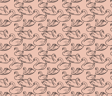 SWANS fabric by rose&stone on Spoonflower - custom fabric