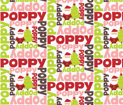 christmas personalised name design - spiral with pic fabric by spunkymonkees on Spoonflower - custom fabric