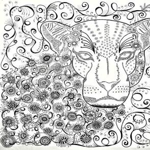 Leopard zen B/W