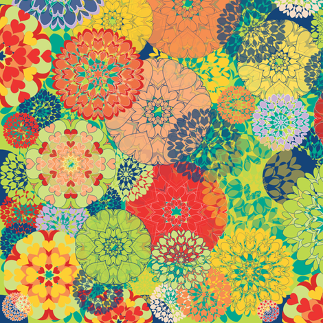 Diatom Blooms fabric by paula's_designs on Spoonflower - custom fabric