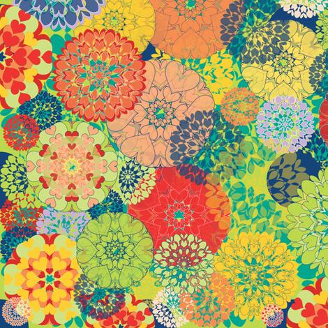 Diatom Blooms fabric by paula's_designs on Spoonflower - custom fabric