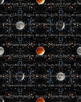 Super Blood Moon Phases Damask - small