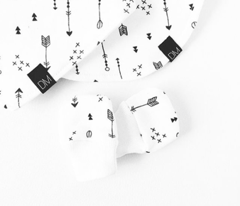 Geometric black and white arrows and cross abstract illustration print scandinavian style