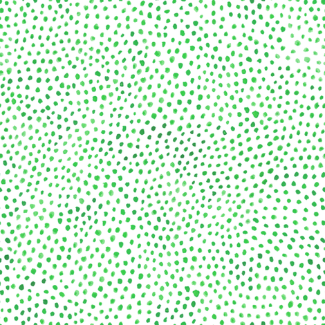 Green Watercolor Dots fabric by kirsten_sevig on Spoonflower - custom fabric