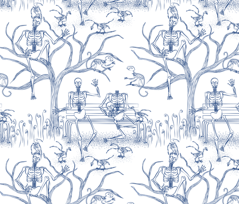 Sunday in the park after the worlds end fabric by vo_aka_virginiao on Spoonflower - custom fabric