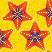 STARFISH Star Purple Orange Cut n Sew