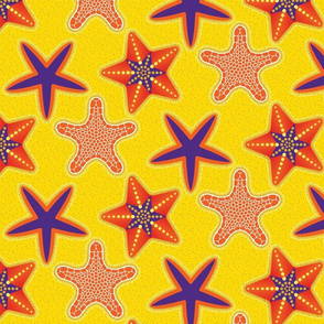 STARFISH Mosaic Inlaid Star Orange Purple