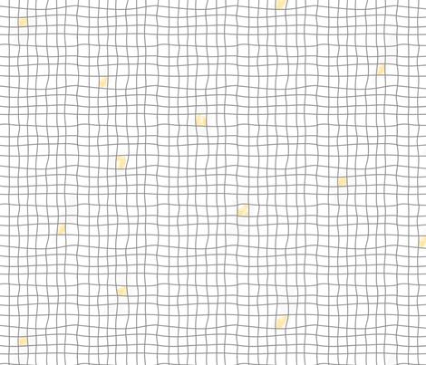 Grey Tiles & Yellow - Carreaux Gris & Jaune fabric by minky_gigi on Spoonflower - custom fabric