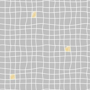 Grey Tiles & Yellow - Carreaux Gris & Jaune