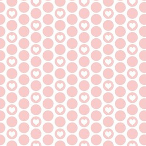 Valentine special: tiny hearts in rose polka dots on white by Su_G