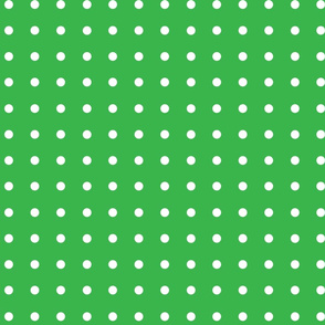 Polka-Dots Green and White