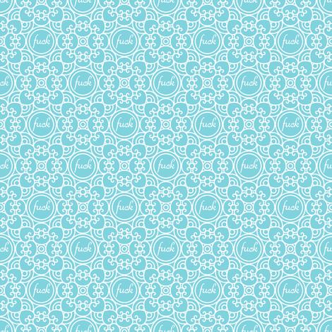 Delicately Speaking Teal 2-Medium fabric by shala on Spoonflower - custom fabric