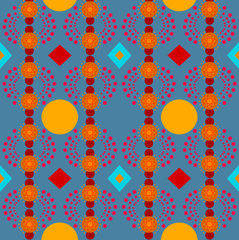 gold and blue beads, dots, diamonds fabric by lbehrendtdesigns on Spoonflower - custom fabric