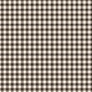 Gingham Small-Cafe Noir and White