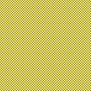 Polka Dots Black On Maize Yellow 1:6