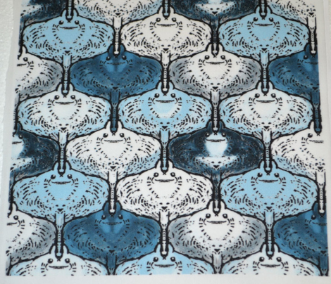 Tessellating Kawaii Manta Rays