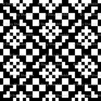 Geometric 2-Black and White