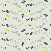 Maidenhair Fern and Ginkgo_Floating Ferns