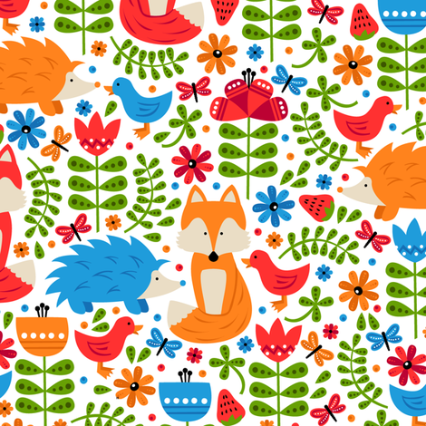 Friendly Forest fabric by robyriker on Spoonflower - custom fabric
