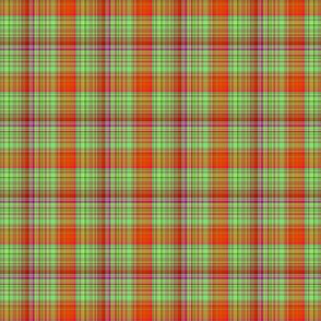 HOT GREEN AND RED FUSHIA CHERRY Plaid the orangery side