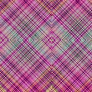 FRUIT SALADE HARMONY DIAGONAL PLAID TARTAN 4