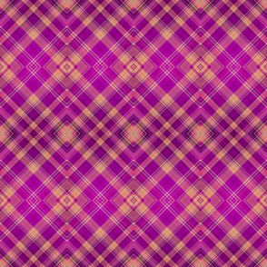 FRUIT SALADE HARMONY 1 DIAGONAL PLAID TARTAN