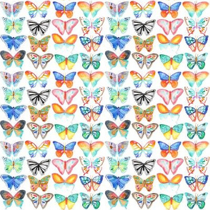 Watercolour Butterflies - smaller scale