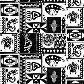 Black and White Southwestern Sampler