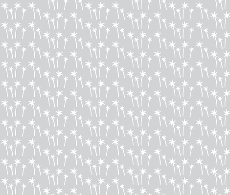 palms -Mix2 MEDIUM gray snow fabric by drapestudio on Spoonflower - custom fabric