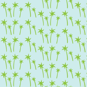 palms -Mix2 MEDIUM seaglass apple