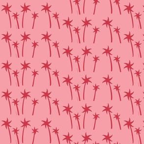palms -Mix2 MEDIUM bubblegum berry