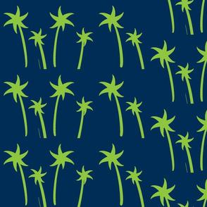 palms -Mix2 LARGE Navy Apple