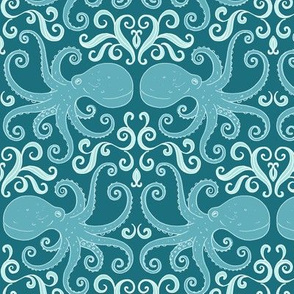 Octopuses - blue