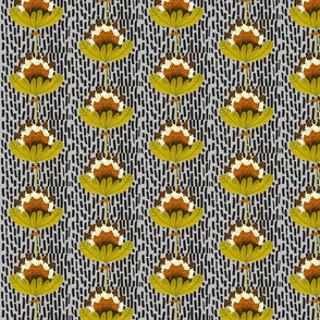 Brownie Flowa-grey background