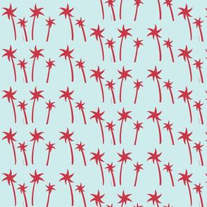 palms -Mix2 MEDIUM seaglass  berry