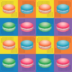 Colorful Pop Art Macaron Cookies