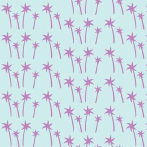 palms -Mix2 MEDIUM seaglass  grape