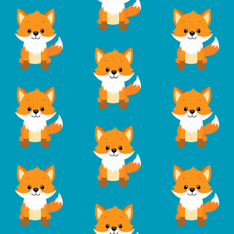 Cute Foxes fabric by sunshineandspoons on Spoonflower - custom fabric