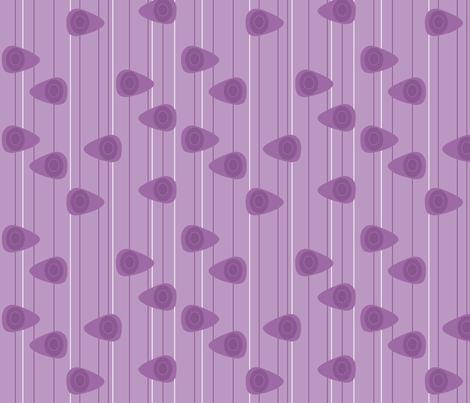Cell-ular Lounge - lavender mono fabric by designergal on Spoonflower - custom fabric