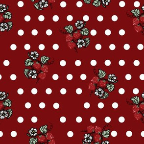 strawberry_polka_dots_twist_fabric