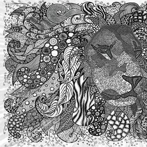 Lion Zen B/W