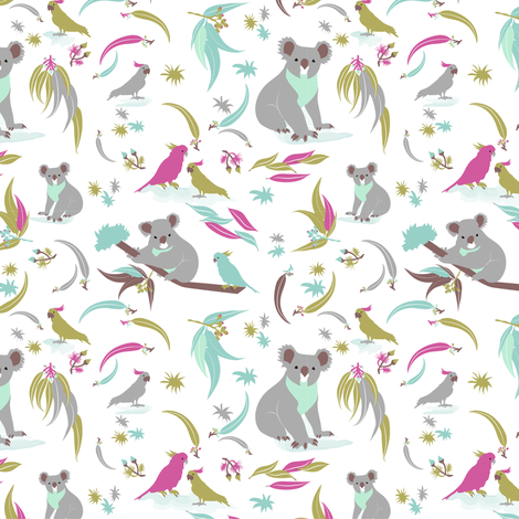 Koalalala fabric by marina_grzanka on Spoonflower - custom fabric