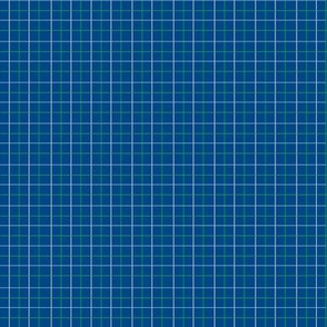 Animal Dream Otter_blue grid