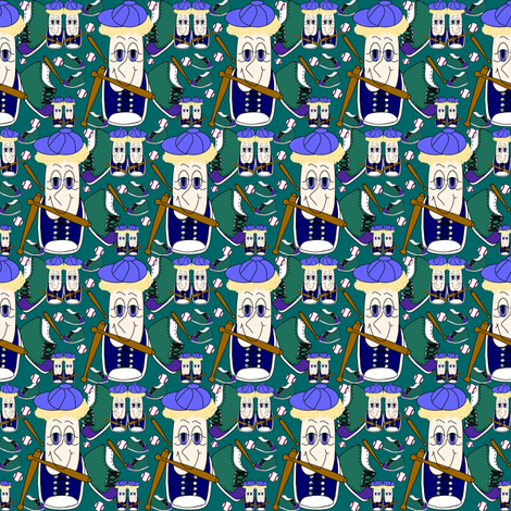 Sneaks Family Baseball  Sneakers, Balls and Bats Fabric 3 - Home Run Brian Sneaks fabric by lworiginals on Spoonflower - custom fabric