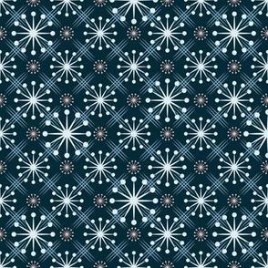 Mid Century Starburst Blue