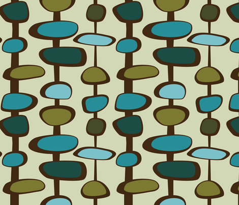 Baubles - 10in (teal) fabric by studiofibonacci on Spoonflower - custom fabric