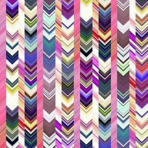 CRAZY CHEVRONS ARROWS POWDER PINK