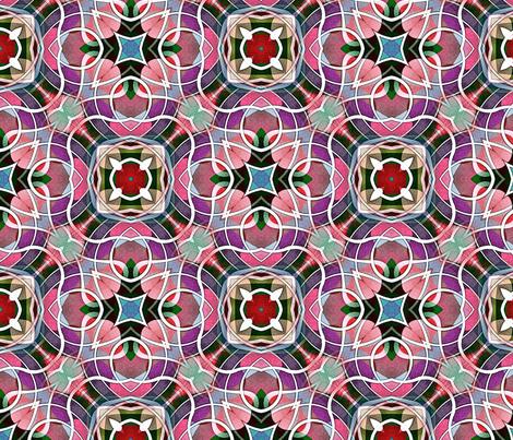 Cherry blossom waves fabric by myra_mars on Spoonflower - custom fabric