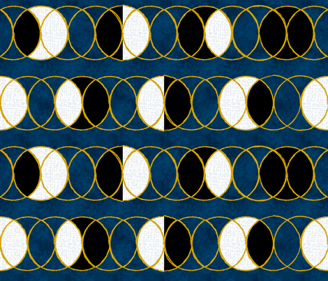 Cycles of the Moon Phases fabric by mia_valdez on Spoonflower - custom fabric