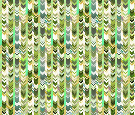 CRAZY CHEVRONS ARROWS MOSS GREEN fabric by paysmage on Spoonflower - custom fabric